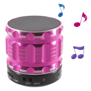 S28 Metal Shell Mini Stereo Bluetooth Speaker with Microphone for iPhone Samsung Sony - Rose