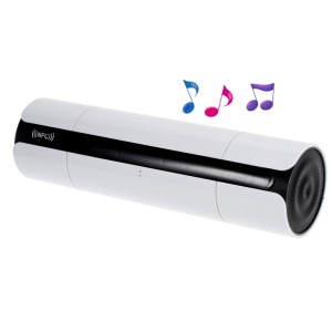 LED Display Touch Hands-free NFC Bluetooth Speaker, Support FM TF Card AUX Input - White