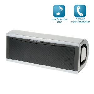 YM-338 High-end Mega Bass Bluetooth Speaker Support TF Card and Aux-in - Silver