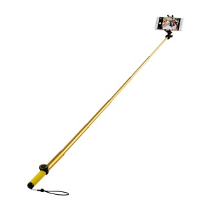 MOMAX Selfie Hero Touchless Stick Extendable Self-portrait Monopod - Yellow / Gold