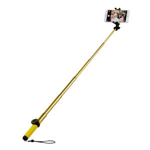 MOMAX Selfie Hero 100cm Touchless Selfie Pod with Bluetooth Remote Shutter - Yellow