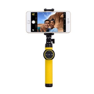 MOMAX Selfie Hero Touchless Gesture Shooting Bluetooth Selfie Stick Extendable, Max Length: 70cm - Yellow