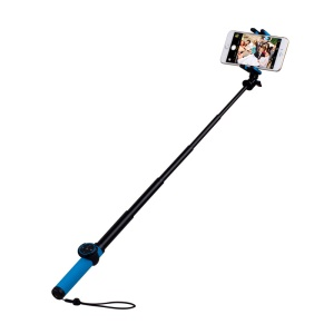 MOMAX Selfie Hero Touchless Gesture Shooting Bluetooth Selfie Stick Extendable, Max Length: 70cm - Blue