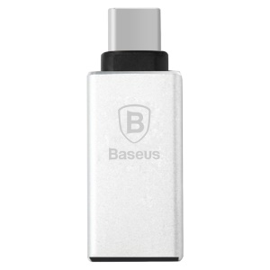 BASEUS Sharp Series Type-c USB 3.1 to USB 3.0 Adapter for Macbook Chromebook Nokia N1 etc - Silver