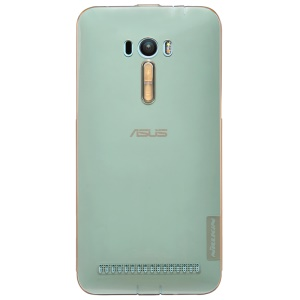 NILLKIN 0.6mm Nature Slim Gel TPU Cover for Asus Zenfone Selfie ZD551KL - Brown