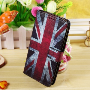 Callfree Wallet Stand Leather Case for Asus Zenfone 2 Laser ZE550KL 5.5-inch - Retro Union Jack Flag