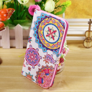 Callfree Stand Wallet Leather Case for Asus Zenfone 2 Laser ZE550KL 5.5-inch - Mandala Flowers