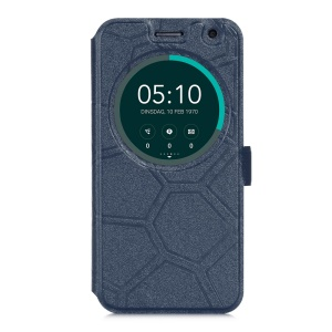 """Circle View Window Smart Leather Cover for Asus Zenfone 2 Laser ZE500KG ZE500KL 5.0"""" - Blue"""