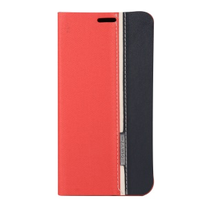 Assorted Color Leather Card Holder Case for Asus Zenfone 2 Laser ZE601KL ZE600KL - Red