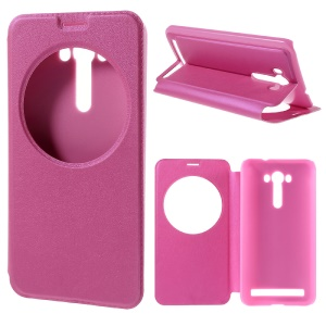 View Window Smart Stand Leather Cover for Asus Zenfone 2 Laser ZE550KL ZE551KL - Rose