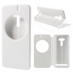 View Window Smart Leather Cover for Asus Zenfone Selfie ZD551KL - White