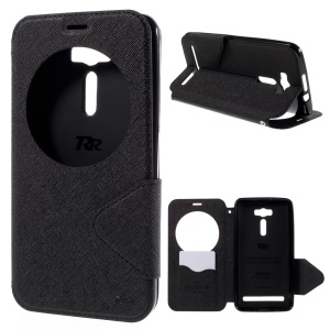 ROAR KOREA Diary View Window Leather Case for Asus Zenfone 2 Laser ZE601KL ZE600KL  - Black