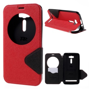 ROAR Diary View Window Leather Cover for Asus Zenfone 2 Laser ZE601KL ZE600KL - Red