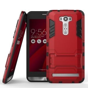Kickstand PC TPU Hybrid Cover for Asus Zenfone 2 Laser ZE601KL ZE600KL - Red