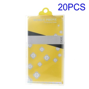 20pcs/Lot Retail Package Box for iPhone 6s 6 Cases, Size: 160 x 85 x 15mm - Yellow