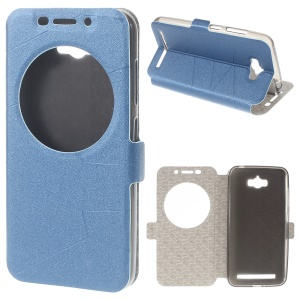 Smart Leather Stand Cover for Asus Zenfone Max ZC550KL - Blue