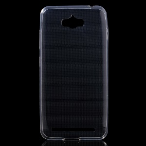 Glossy Soft TPU Back Case for Asus Zenfone Max ZC550KL - Transparent