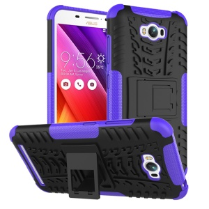 Anti-slip PC TPU Detachable Cover for Asus Zenfone Max ZC550KL - Purple