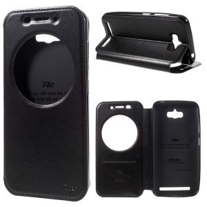 ROAR Noble Leather View Cover for Asus Zenfone Max ZC550KL - Black