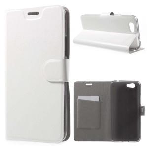 Crazy Horse Grain Card Holder Leather Protective Cover for Asus Pegasus 5000/X005 - White