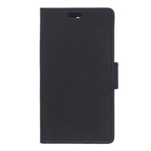 Litchi Leather Wallet Cover for Asus Zenfone Live G500TG - Black