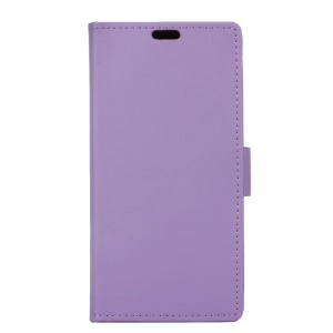 Flip Stand Leather Wallet Magnetic Protective Cover for Asus Zenfone 3 ZE552KL - Purple