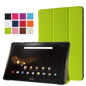 PU Leather Case with Tri-fold Stand for Acer Iconia Tab 10 A3-A40 - Green