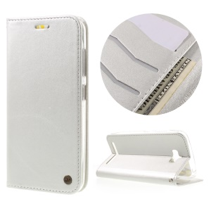 ROAR KOREA Only One Flip Case PU Leather Cover for Asus Zenfone Max ZC550KL - Silver
