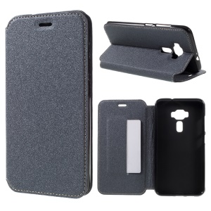 Sand-like Texture Stand Leather Case for Asus Zenfone 3 ZE552KL - Grey