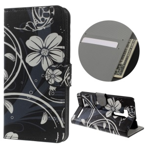 Leather Wallet Cover for Asus ZenFone Go/Go TV ZB551KL - Flower and Vines