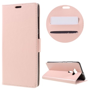 Crazy Horse Flip Leather Protective Phone Case for Asus Zenfone 3 Deluxe ZS570KL - Pink