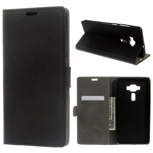 Wallet Leather Stand Case for Asus Zenfone 3 Deluxe ZS570KL - Black