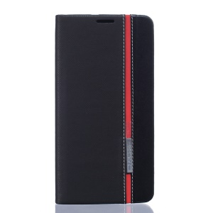 Two-tone Leather Card Holder Case for Asus Zenfone 3 Deluxe ZS570KL - Black