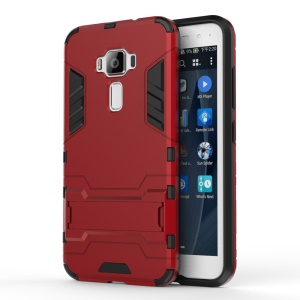Solid PC + TPU Hybrid Cover with Kickstand for Asus Zenfone 3 ZE520KL - Red