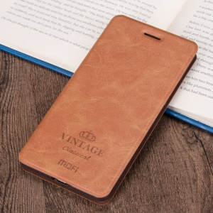 MOFI Leather Cover Case for Asus Zenfone Selfie ZD551KL - Brown