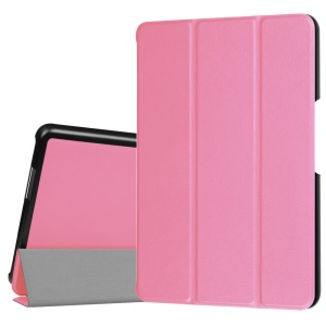 Folio Leather Cover for Asus ZenPad Z8 ZT581KL with Tri-fold Stand - Pink