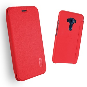 LENUO Ledream Leather Flip Case Asus Zenfone 3 ZE552KL with Card Slot - Red