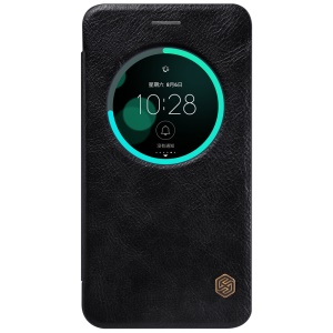 NILLKIN Qin Series Smart View Leather Case for Asus Zenfone 3 ZE552KL - Black
