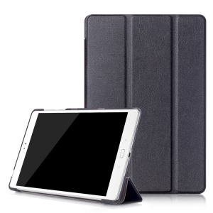Tri-fold Stand Smart Leather Case for Asus Zenpad 3S 10 Z500M - Black