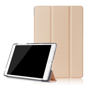 For Asus Zenpad 3S 10 Z500M Tri-fold Leather Case Smart Cover - Gold