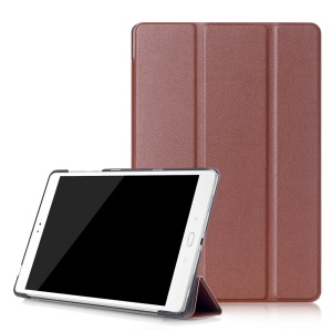 Tri-fold Smart Leather Protection Case for Asus Zenpad 3S 10 Z500M - Brown