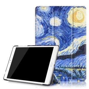 Patterned Smart Leather Case for Asus Zenpad 3S 10 Z500M - Starry Night Oil Painting
