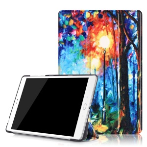 Tri-fold Leather Smart Cover for Asus Zenpad 3S 10 Z500M - Rainy Night Oil Painting