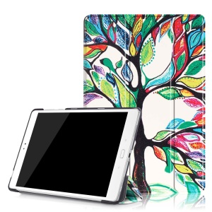 Tri-fold Stand Smart Leather Case for Asus Zenpad 3S 10 Z500M - Colored Tree Painting