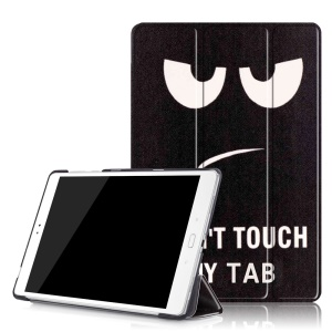 For Asus Zenpad 3S 10 Z500M Tri-fold Smart PU Leather Cover - Do Not Touch My Tab
