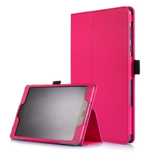 Litchi Skin Smart Leather Stand Cover for Asus Zenpad 3S 10 Z500M - Rose