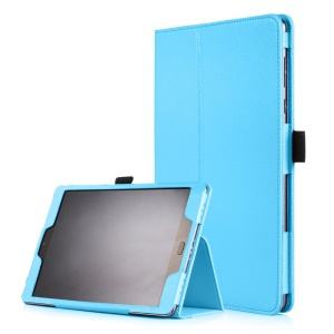Litchi Skin Smart Leather Stand Case Cover for Asus Zenpad 3S 10 Z500M - Baby Blue