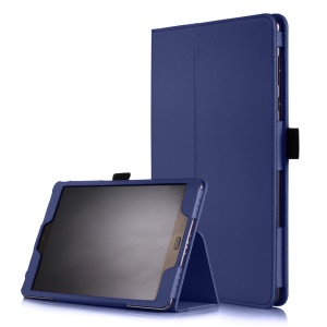 Litchi Skin Smart Leather Stand Cover Case for Asus Zenpad 3S 10 Z500M - Dark Blue