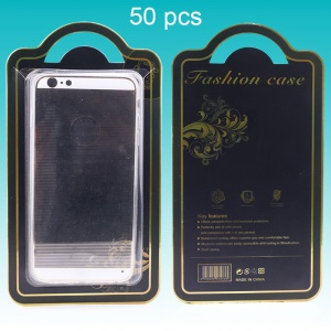 50pcs/Lot Fashion Case Paper Package Box for iPhone 5s/6s/6s Plus/Note 2 3 Covers Etc - Black