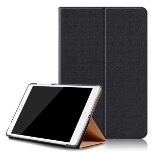 Sand-like Texture Leather Smart Case with Stand for Asus Zenpad 3S 10 Z500M - Black